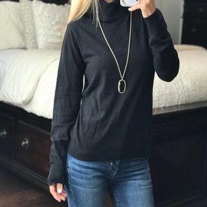 Banana Republic Black Cowl Neck Sweater
